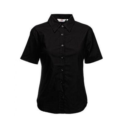 Ladies Short Sleeve Oxford Shirt