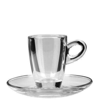 Glashenkeltasse Arizona Espresso mit Untersetzer inkl. 1c Druck