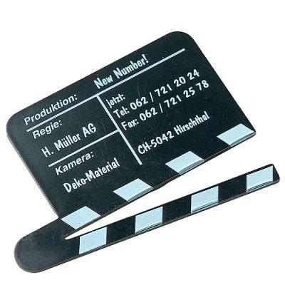 "Magnet ""Filmklappe"" schwarz EL0057800"
