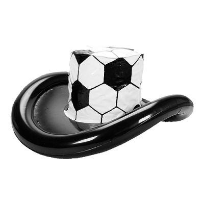 """Aufblasbarer Fan-Hut """"Fußball"""" weiß-schwarz EL0106000"""