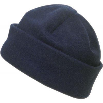 Fleece-Mütze 'Brixen' aus Polyester-Fleece blau - 1741