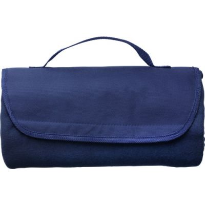 Fleece-Picknickdecke 'Basic' blau - 1921
