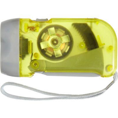 LED-Dynamotaschenlampe 'Mission' gelb - 4532