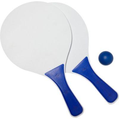 Beachball Tennisspiel 'Costa Brava' aus Holz blau - 6985