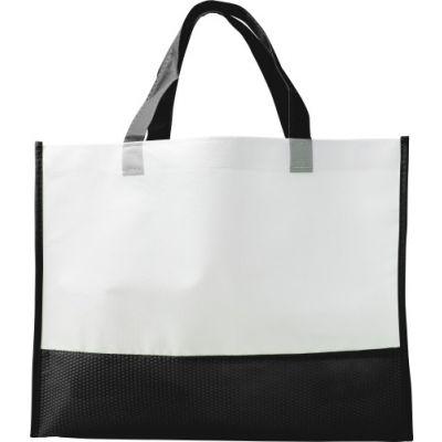 Einkaufstasche 'Handle' aus Non-woven schwarz - G7827