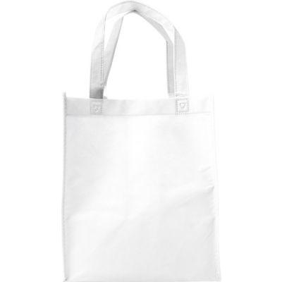 Einkaufstasche 'Town' aus Non-Woven weiß - G7957