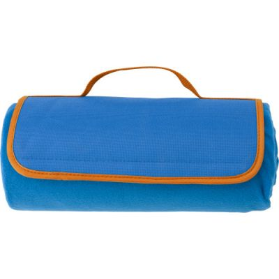 Picknickdecke 'Köln' aus Fleece blau - G8179-018