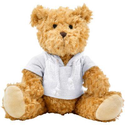 Plüsch-Teddybär 'Olaf' mit aufgestickten Augen weiß - G8182