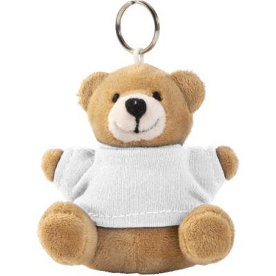 Teddybär Schlüsselanhänger 'Ted' weiß - G8851