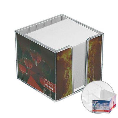Zettelbox, doppelwandig mit Köcher - HE0051500