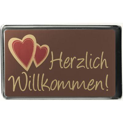 Werbegeschenk Schokotäfelchen Herzlich Willkommen (WH0012300)