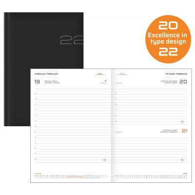Terminkalender INT, Buchkalender, A5, schwarz