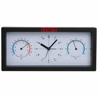 Schreibtischuhr mit Hygro- und Thermometer