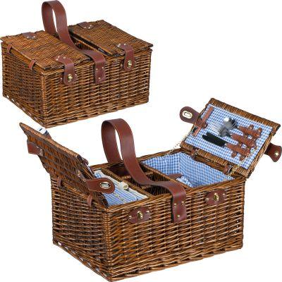 Picknickkorb für 4 Personen braun