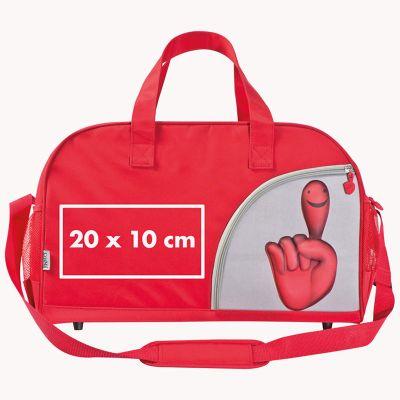 Sporttasche aus Mikrofaser im Smilehands-Design