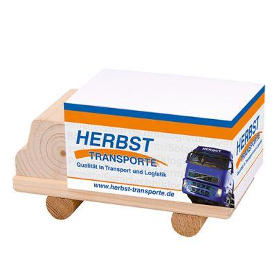 Zettelboxen, Zettelspeicher LKW Werbeartikel mit Logo (MW0003500)