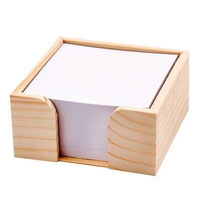Zettelboxen, Zettelspeicher Holz Werbeartikel mit Logo (MW0000200)