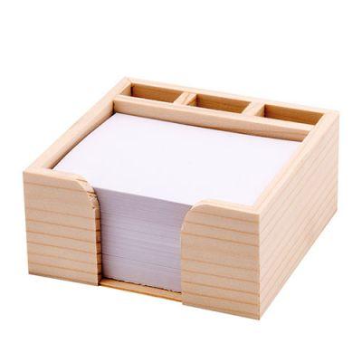Zettelboxen, Zettelspeicher Holz Werbeartikel mit Logo (MW0000300)