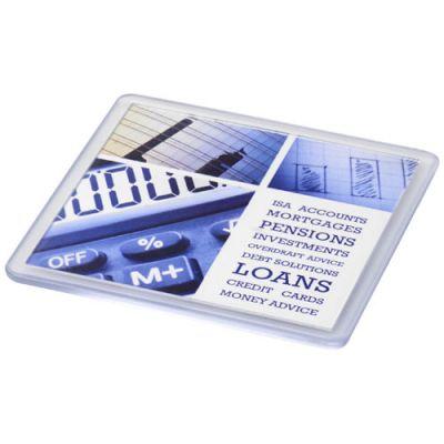 Ellison quadratischer Kunststoffuntersetzer mit Papiereinleger PF1059800