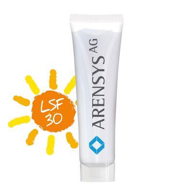 20 ml Tube, kristallklar - Sonnenmilch LSF 30 - RealityPrint SA0022000 bedrucken