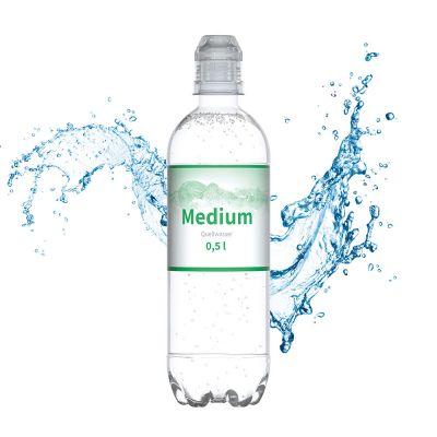 500 ml Quellwasser medium (Sportcap) - Smart Label SA0021000 bedrucken