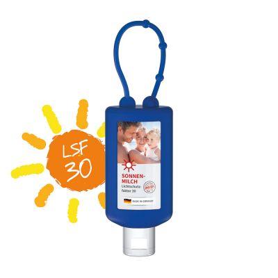 50 ml Bumper blau - Sonnenmilch LSF 30 - Body Label SA0022500 bedrucken