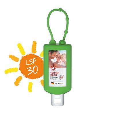 50 ml Bumper grün - Sonnenmilch LSF 30 - Body Label SA0022700 bedrucken