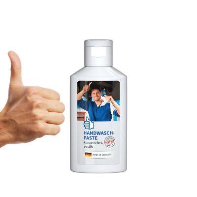 50 ml Flasche weiß - Handwaschpaste - Body Label SA0016800 bedrucken