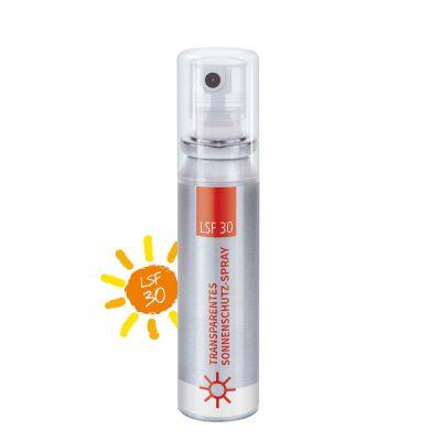 20 ml Pocket Spray - Sonnenschutzspray transp. LSF 30 - No Label Look SA0023100 bedrucken