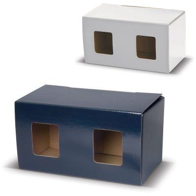 Verpackung für zwei Becher mit Fenster LT83201